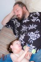 2007 - Galen (at 2 years old) and Daddy (me) sleeping the afternoon away.