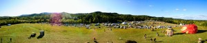Panoramic shot taken from atop the Effigy on Saturday afternoon at Alchemy 2011.