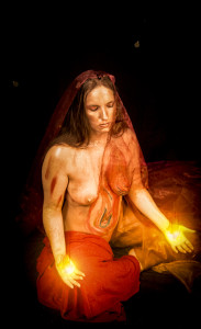 Fire, the source of all life. Model: Lisa Body paint: Laurel