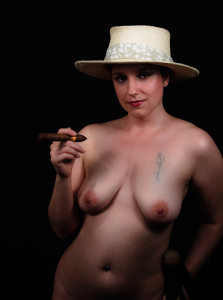 Part of a multi year series with that hat and a cigar.