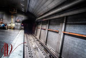 A Tunnel into Darkness. -- Peachtree Center MARTA Station - Atlanta.