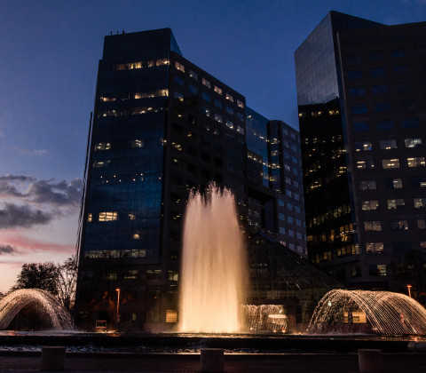 Sunset-and-Fountain